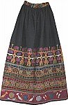 Folkloric Bohemian Long Skirt