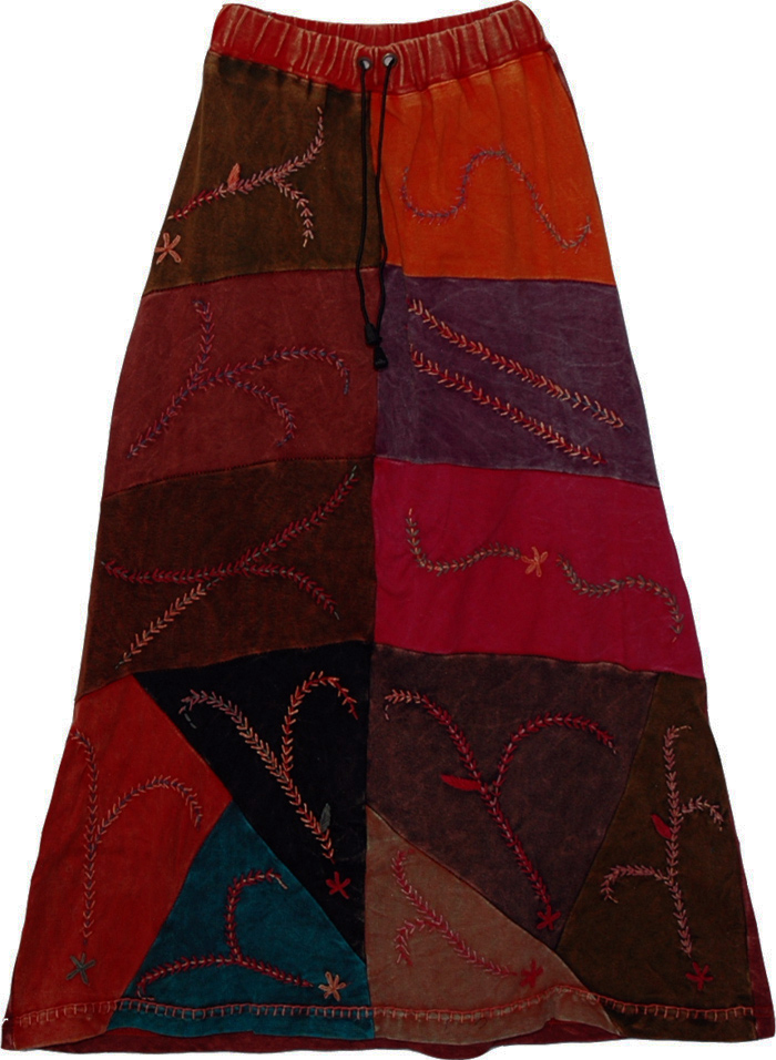 Samburu Tribal Pirate Gypsy Long Skirt