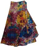 Kaleidoscope Tie Dye Wrap Long Skirt