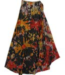 Espresso Tie Dye Wrap Long Skirt