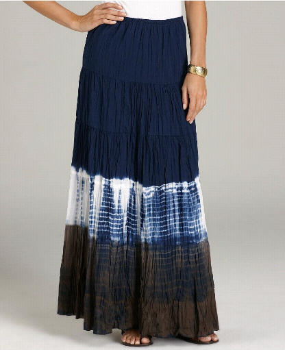 Charade Tie-Dye Casual Long Skirt