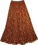 Redwood Crinkle Long Summer Skirt