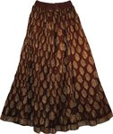 Cedar Crinkle Long Summer Skirt