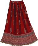 Totem Pole Tie Dye Crinkle Long Skirt