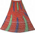 Arabian Princess Ethnic  Long Skirt in Red