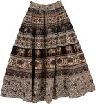 Rainforest Long Cotton Printed Skirt