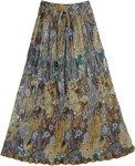 Boho Crinkled Skirt Sandy Shine