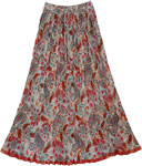 Hoodoo Colorful Boho Crinkled Shimmer Skirt