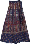 Nevada Gypsy Blue Wrap Around Skirt
