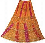 Arabian Princess Ethnic  Long Skirt in Orange