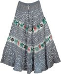 Grey Gypsy Tie Dye Long Skirt