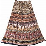 Boho Printed Long Skirt