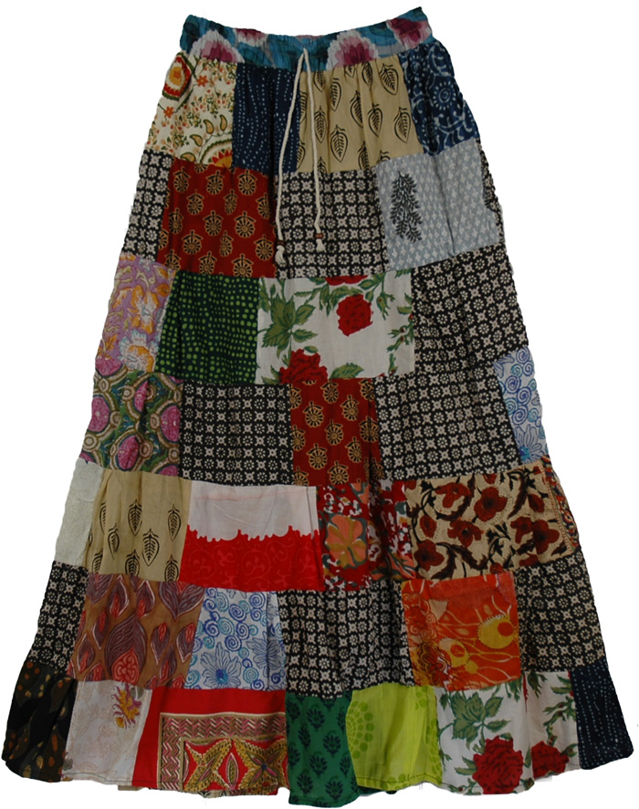 Quartz Colorful Summer Long Skirt | Clothing | patchwork