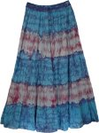 Groovy Tie Dye Long Marble Skirt