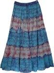 Groovy Tie Dye Long Marble Skirt