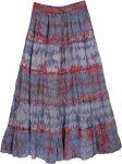 Tie Dye Long Retro Bleed Skirt