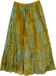 Ancient Rocks Tie Dye Marble Cotton Summer Skirt