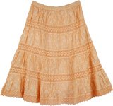 Orange Cream Boho Trendy Skirt