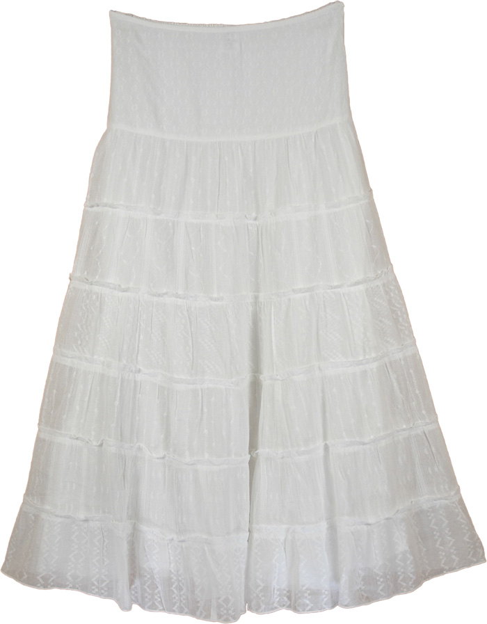 Classy White Cotton Trendy Skirt | Clothing | White-Skirts