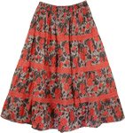 Coral Crochet Floral Skirt in Size Small