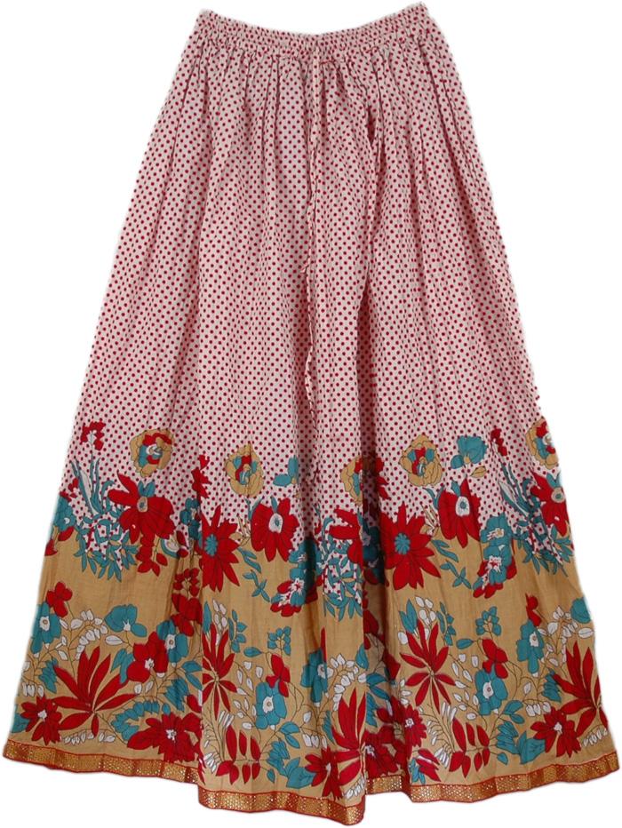 Cherry Polka Summer Long Skirt | Clothing