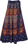 Mexico Boho Blue Wrap Skirt