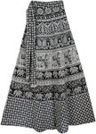 Black White Mughal Long Skirt