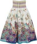 White Fancy Maxi Dress Skirt