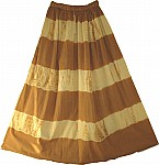 BohoTie Dye Skirt Brown