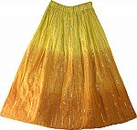 Boho Chic Multicolor Ribbon Long Skirt