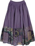 Smoky Purple Casual Long Skirt