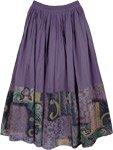 Smoky Purple Casual Long Skirt