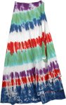 Flush Circles Tie Dye Wrap Long Skirt