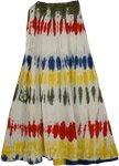 Color Splashes White Womens Skirt
