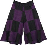 Purple Block Divided Skirt Pant