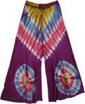 Berry Love Tie Dye Knit Hippie Capri Pants
