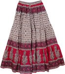 Pink Lady Cotton Long Boho Skirt