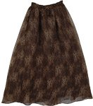 Wild Cat Cocoa Boho Long Skirt