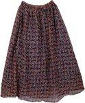 Boho Long Georgette Skirt