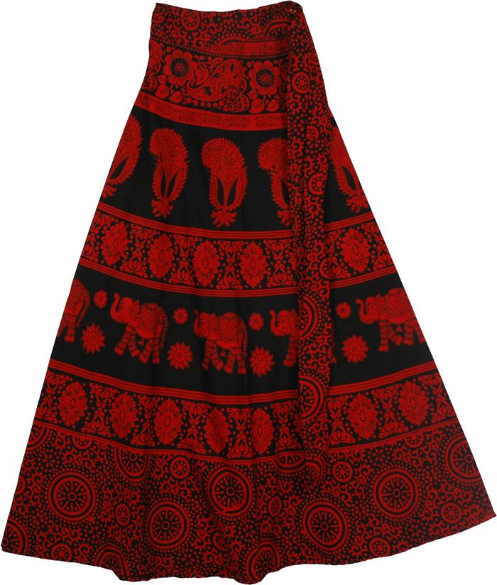 Long Skirt Red - Dress Ala