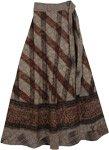 Cappuccino Wrap Hem Long Skirt