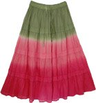 Tie Dye Long Skirt Hibiscus Charm