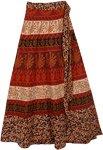 Red Rust Animal Wrap Skirt