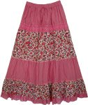 Cadillac Pink Floral Women`s Skirt