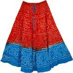 Orange Punch Summer Skirt
