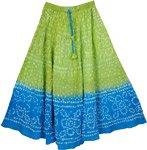 Chelsea Cucumber Tie Dye Long Skirt 33L