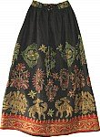 Evening Wear Designer Women`s Long Skirt