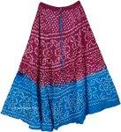 Purple Cerulean Tie Dye Long Skirt