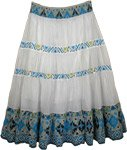 Exotic Print Casual Long Ikat Skirt