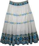 Exotic Print Casual Long Ikat Skirt